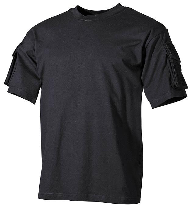US T-Shirt, halbarm, schwarz,