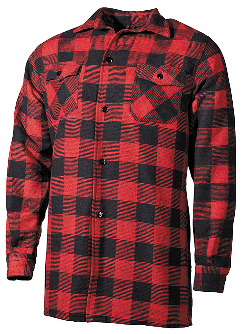 chemise coton type bucheron carreaux rouge et noir achat