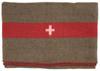 Schweiz. Wolldecke, braun,