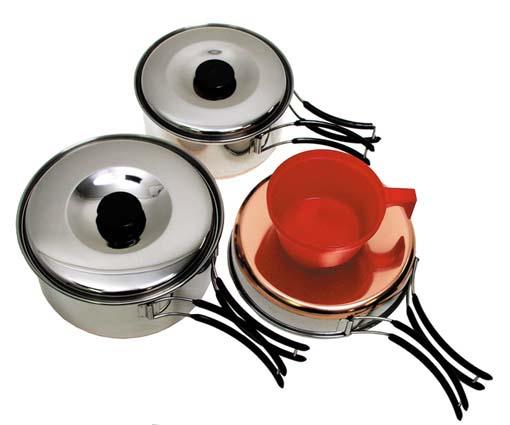 Ustensiles batterie de cuisine camping 15 x 15 x 9cm - Batterie de cuisine en cuivre ...