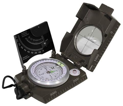 Ital. Kompass, Metallgehäuse,
