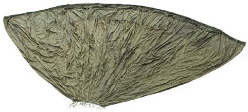 Fallschirmkappe, oliv, neuw.,
