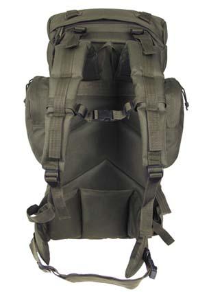 Тактический рюкзак с рамой 55L алюминия.