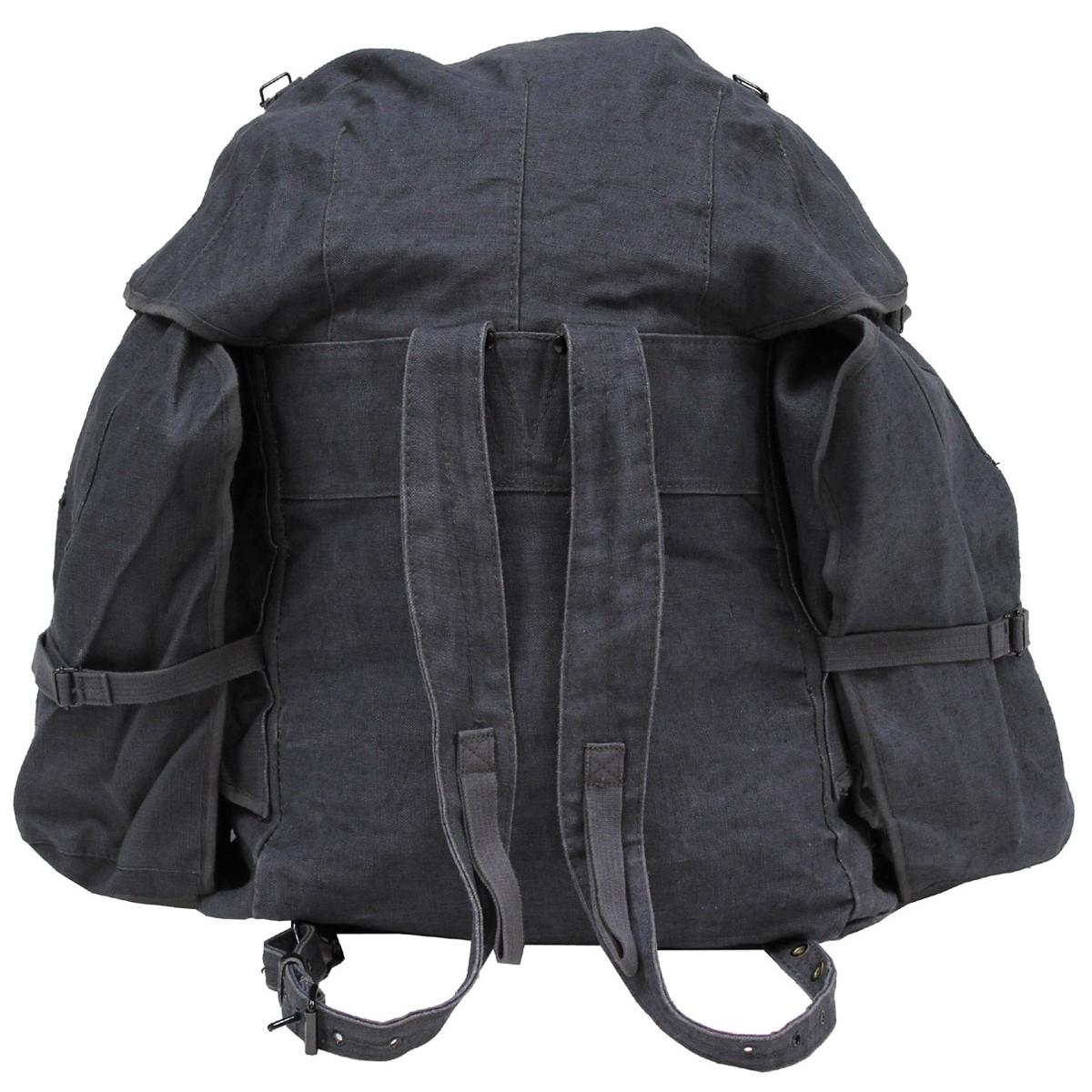 Italienischer Rucksack blau/grau mit Träger